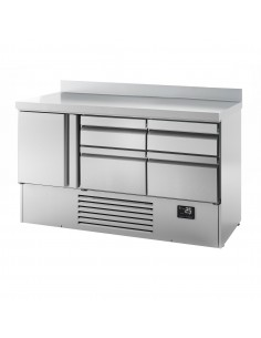 Gastro Counter Fridge (GN 1/1) - with 1 door and 4 drawers