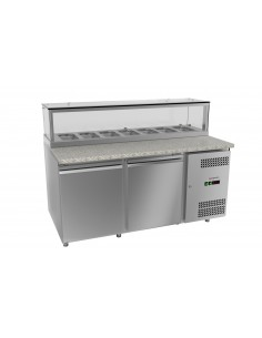 Refrigerated Saladette - 1,50 m - with 2 Doors